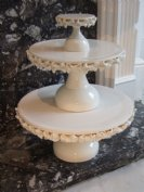 """Lillie Langtry"" 4"", 10"", 14"" cakestands"