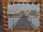 Southend Pier - machine knitted
