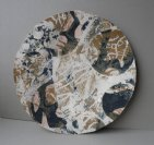 Patchwork stoneware plate
