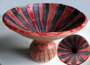 Red Striped Pot