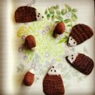 Terracotta Hedgehog Brooches