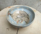 e/w small bowl with guinea fowl