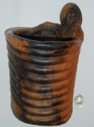 planter, burnished and sawdust fired