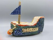 Earthenware Sailing Boat